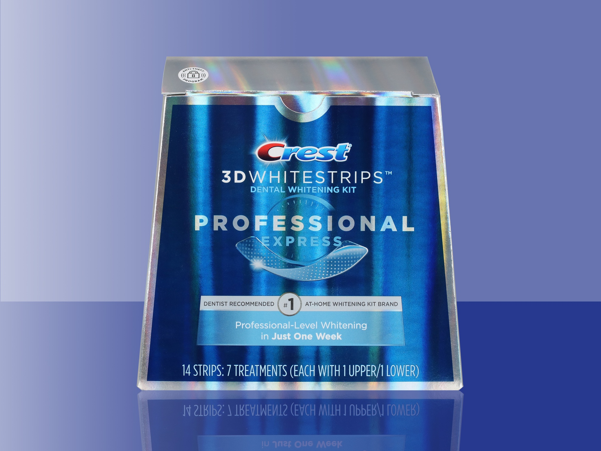Crest 3D Whitestrips Professional White packaging